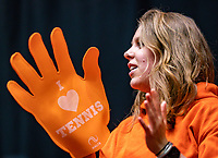 Den Bosch, The Netherlands, Februari 9, 2019,  Maaspoort , FedCup  Netherlands - Canada, second match : Dutch supporters<br /> Photo: Tennisimages/Henk Koster