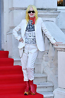 """LONDON, UK, AUGUST 08: Pam Hogg attends the opening night of Film4 Summer Screen at Somerset House featuring the UK Premiere of """"Pain And Glory"""" on August 8, 2019 in London, England. <br /> CAP/JOR<br /> ©JOR/Capital Pictures"""