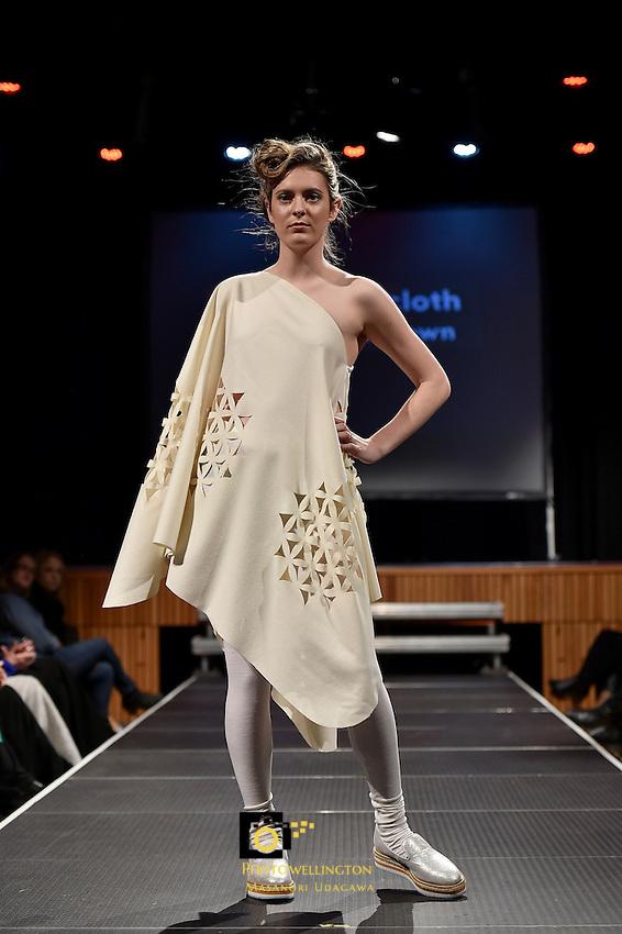 New Zealand Eco Fashion Week - Eco Designer Runway at Notre Dame Performing Arts Centre, Sacred Heart College, Lower Hutt, New Zealand on Saturday 13 June 2015.<br /> Photo by Masanori Udagawa. <br /> www.photowellington.photoshelter.com.