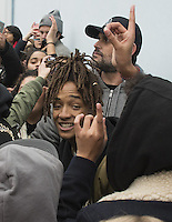 www.acepixs.com<br /> <br /> January 20 2017, New York City<br /> <br /> Jaden Smith took part in Shia Labeouf&rsquo;s new project 'He will not divide us' outside the Museum of Moving Pictures on January 20, 2017 in New York City. <br /> <br /> By Line: Solar/ACE Pictures<br /> <br /> ACE Pictures Inc<br /> Tel: 6467670430<br /> Email: info@acepixs.com<br /> www.acepixs.com