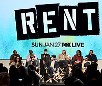 "RENT: JAN 15, 2019: (Top Row) Mario, Brandon Victor Dixon, Valentina,  Executive Producer Adam Siegel, Executive Producer Julie Larson, Director Michael Greif and (Bottom Row) Tinashe, Brennin Hunt, Kiersey Clemons, Jordan Fisher, and Vanessa Hudgens attend FOX'S ""RENT"" Sing-Along YouTube Event at the YouTube Space on January 15, 2019, in Los Angeles, California. (Photo by Frank Micelotta/Fox/PictureGroup)"