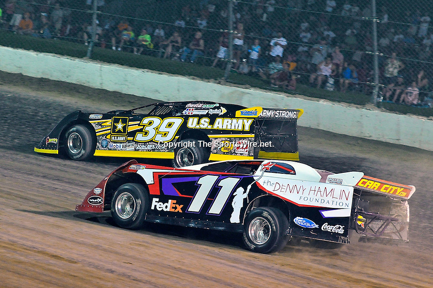 Jun 8, 2011; 10:26:12 PM; Rossburg, OH., USA; The 7th running of the Gillette Fusion ProGlide Prelude to the Dream  Dirt Late Models at the Eldora Speedway.  Mandatory Credit: (thesportswire.net)