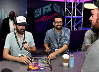 SAN DIEGO COMIC-CON© 2019: L-R: 20th Century Fox Television's AMERICAN DAD Producer Steve Hely and Writer/Cast Member Jeff Kauffmann during the AMERICAN DAD booth signing on Saturday, July 20 at the SAN DIEGO COMIC-CON© 2019. CR: Alan Hess/20th Century Fox Television