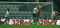 Hull City's Jackson Irvine heads past Preston North End's Jordan Storey to score his and his sides second goal<br /> <br /> Photographer Stephen White/CameraSport<br /> <br /> The EFL Sky Bet Championship - Preston North End v Hull City - Wednesday 26th December 2018 - Deepdale Stadium - Preston<br /> <br /> World Copyright &copy; 2018 CameraSport. All rights reserved. 43 Linden Ave. Countesthorpe. Leicester. England. LE8 5PG - Tel: +44 (0) 116 277 4147 - admin@camerasport.com - www.camerasport.com