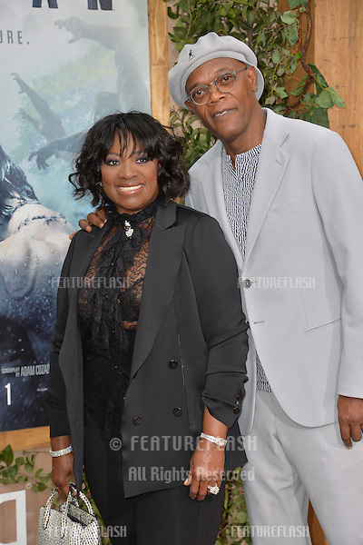 LOS ANGELES, CA. June 27, 2016: Actor Samuel L. Jackson &amp; wife actress LaTanya Richardson Jackson at the world premiere of &quot;The Legend of Tarzan&quot; at the Dolby Theatre, Hollywood.<br /> Picture: Paul Smith / Featureflash