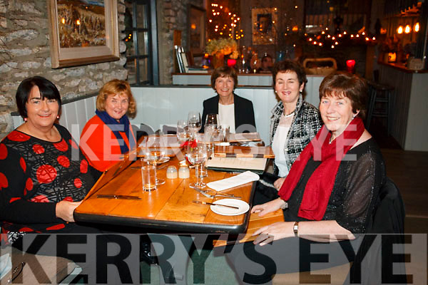 Celebrating ladies Christmas at The Lime Tree, Kenmare on Saturday 6th. <br /> L-R: Mary Declan O'Neill, Josephine O'Neill, Mary O'Farrell, Terese Morley and Mary O'Neill.