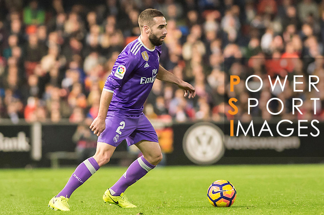 Daniel Carvajal Ramos of Real Madrid in action during their La Liga match between Valencia CF and Real Madrid at the Estadio de Mestalla on 22 February 2017 in Valencia, Spain. Photo by Maria Jose Segovia Carmona / Power Sport Images