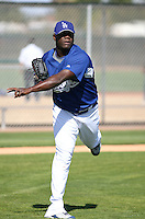 Jacobo Meque - Los Angeles Dodgers - 2009 spring training.Photo by:  Bill Mitchell/Four Seam Images