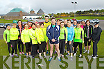 Marcus Howlett with some of the Tralee Born to Run runners launching the Rose of Tralee International 10k takes which takes place on the 18th August 2013