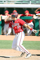 Aaron Judge #29 of the Fresno State Bulldogs plays against the Louisiana Tech Bulldogs in the Western Athletic Conference post-season tournament at Hohokam Stadium on May 26, 2011 in Mesa, Arizona. .Photo by:  Bill Mitchell/Four Seam Images.