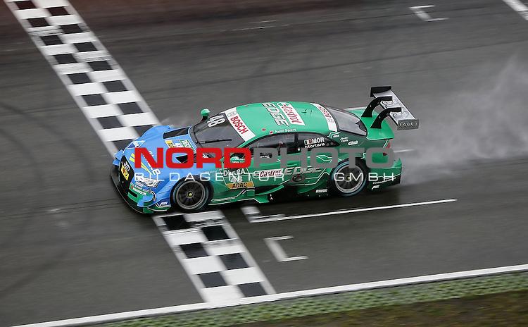 DTM 2015, 01.Lauf Hockenheimring, 01.05. - 03.05.15 <br /> Zieldurchfahrt<br /> Edoardo Mortara (ITA#48) Audi Sport Team Abt Audi RS 5 DTM <br /> <br /> <br /> Foto &copy; nordphoto /  Bratic