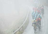 Picture by Alex Broadway/SWpix.com - 10/03/2018 - Cycling - 2018 Paris Nice - Stage Seven - Nice to Valdeblore La Colmiane - The peloton rides through the French countryside.<br /> <br /> NOTE : FOR EDITORIAL USE ONLY. THIS IS A COPYRIGHT PICTURE OF ASO. A MANDATORY CREDIT IS REQUIRED WHEN USED WITH NO EXCEPTIONS to ASO/Alex Broadway MANDATORY CREDIT/BYLINE : ALEX BROADWAY/ASO