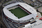 Langtree Park, home of St Helens RLFC, from the Air