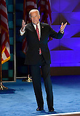 United States Vice President Joe Biden arrives to make remarks during the third session of the 2016 Democratic National Convention at the Wells Fargo Center in Philadelphia, Pennsylvania on Wednesday, July 27, 2016.<br /> Credit: Ron Sachs / CNP<br /> (RESTRICTION: NO New York or New Jersey Newspapers or newspapers within a 75 mile radius of New York City)