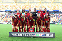 Carson, CA - Thursday August 03, 2017: USA Starting Eleven prior to a 2017 Tournament of Nations match between the women's national teams of the United States (USA) and Japan (JPN) at the StubHub Center.
