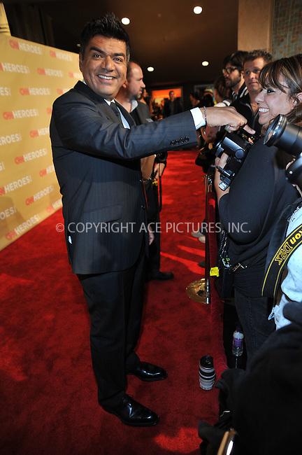 WWW.ACEPIXS.COM . . . . . ....November 21 2009, New York City....Comedian George Lopez arriving at the 2009 CNN Heroes Awards at the Kodak Theatre on November 21, 2009 in Hollywood, California. ....Please byline: JOE WEST- ACEPIXS.COM.. . . . . . ..Ace Pictures, Inc:  ..(646) 769 0430..e-mail: info@acepixs.com..web: http://www.acepixs.com