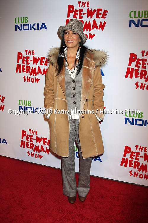 """Sheila E.arriving at the """"The Pee Wee Herman Show"""" Opening Night..Club Nokia.Los Angeles, CA.January 20, 2010.©2010 Kathy Hutchins / Hutchins Photo...."""