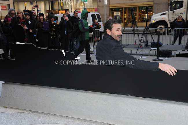 WWW.ACEPIXS.COM<br /> March 23, 2015 New York City<br /> <br /> Jon Hamm attending the 'Mad Men' art installation Unveiling at Time &amp; Life Building on March 23, 2015 in New York City. <br /> <br /> Please byline: Kristin Callahan/AcePictures<br /> <br /> ACEPIXS.COM<br /> <br /> Tel: (646) 769 0430<br /> e-mail: info@acepixs.com<br /> web: http://www.acepixs.com