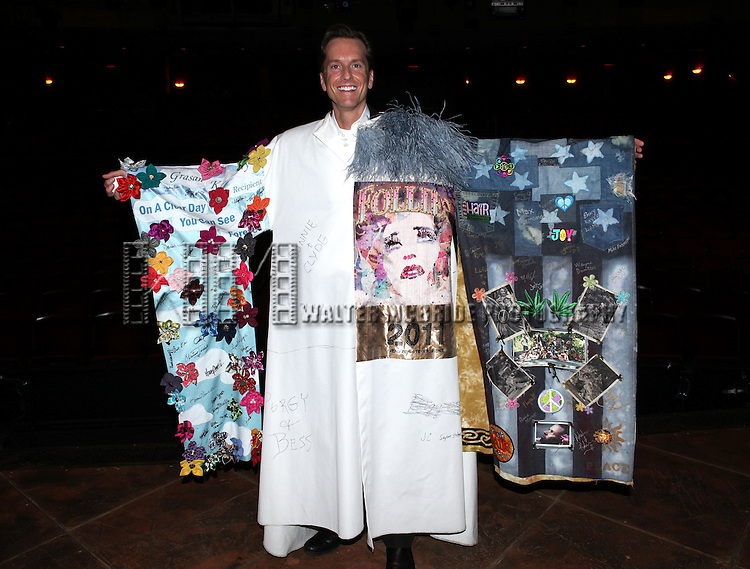 Matt Wall.attending the Broadway Opening Night Actors' Equity Gypsy Robe Ceremony for recipient Matt Wall in 'EVITA' at the Marquis Theatre in New York City on 4/6/2012