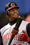 Montreal, Quebec, Canada - 5/30/2004 - Cincinnati Reds center-fielder Ken Griffey Jr. plays against the Montreal Expos at Olympic Stadium in  Montreal, Canada.