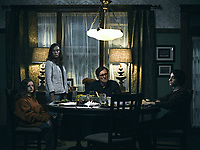 HEREDITARY (2018)<br /> MILLY SHAPIRO, TONI COLLETTE, GABRIEL BYRNE, ALEX WOLF<br /> HEREDITARY (2018)<br /> *Filmstill - Editorial Use Only*<br /> CAP/FB<br /> Image supplied by Capital Pictures