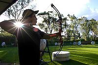 Archery at the Mexico City campus (Ciudad Universitario) of the UNAM (Universidad Autonomo de Mexico) Mexico City. June 20, 2008