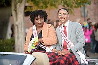 NWA Democrat-Gazette/ANDY SHUPE<br /> Friday, Nov. 1, 2019, during the University of Arkansas' annual homecoming parade on Dickson Street in Fayetteville. The Razorbacks football team hosts Mississippi State at 3 p.m. today. Visit nwadg.com/photos to see more photographs from the parade.