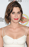 HOLLYWOOD, CA - AUGUST 23: Lizzy Caplan arrives at the Los Angeles premiere of 'Bachelorette' at the Arclight Hollywood on August 23, 2012 in Hollywood, California.
