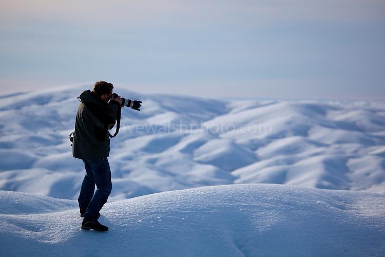 Photographer Nick Cobbing on Petermann Glacier