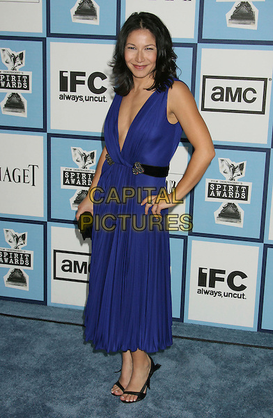 TAMARA PODEMSKI.23rd Film Independent Spirit Awards held at the Santa Monica Beach, Santa Monica, California, USA,.23 February 2008..full length blue purple dress hand on hip.CAP/ADM/RE.?Russ Elliot/Admedia/Capital Pictures