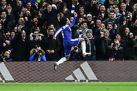 Willian of Chelsea celebrates scoring his team's second goal against FC Porto to make it 2-0 during the UEFA Champions League group match between Chelsea and FC Porto at Stamford Bridge, London, England on 9 December 2015. Photo by David Horn / PRiME