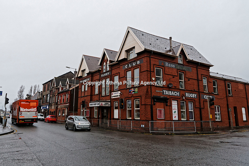 Pictured: The Taibach Rugby Club pub in Port Talbot, Wales, UK. Monday 29 January 2018<br /> Re: Some of the Port Talbot steel workers' pensions are under threat after being persuaded to change providers.
