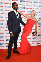Ore Oduba and Joanne Clifton<br /> at the Inside Soap Awards 2016 held at the Hippodrome Leicester Square, London.<br /> <br /> <br /> ©Ash Knotek  D3157  03/10/2016