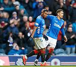 16.03.2019 Rangers v Kilmarnock: Alfredo Morelos and James Tavernier