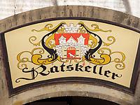 Ratskeller, Quedlinburg, Sachsen-Anhalt, Deutschland, Europa, UNESCO-Weltkulturerbe<br /> Restaurant Ratskeller  in Quedlinburg, Saxony-Anhalt, Germany, Europe, UNESCO World Heritage