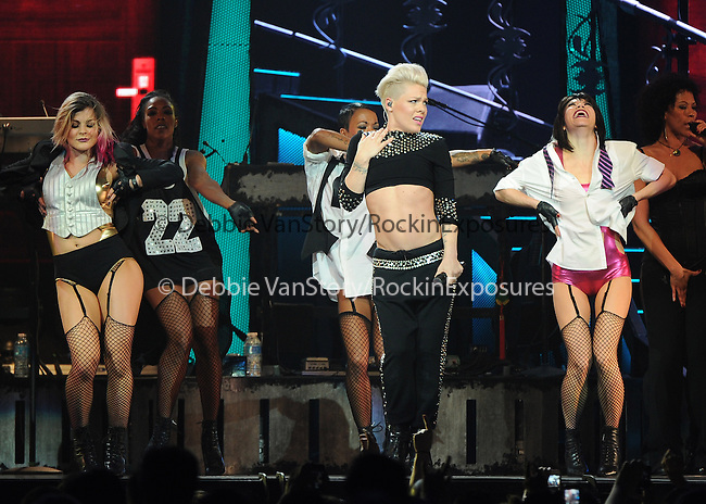 """PINK performs live during her """"TRUTH ABOUT LOVE TOUR"""" Held at the Honda Center in Anaheim, California on January 29,2014                                                                               © 2014 Debbie VanStory / RockinExposures"""