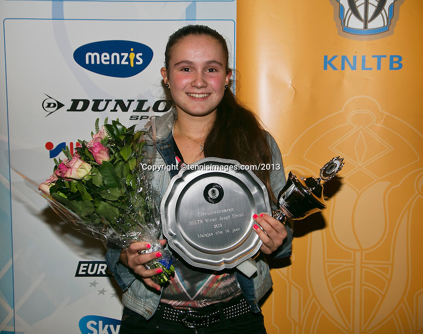 01-12-13,Netherlands, Almere,  National Tennis Center, Tennis, Winter Youth Circuit, Girls 16 years ,overall  winner:  Gabriella Mujan<br /> Photo: Henk Koster
