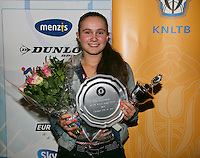 01-12-13,Netherlands, Almere,  National Tennis Center, Tennis, Winter Youth Circuit, Girls 16 years ,overall  winner:  Gabriella Mujan<br /> Photo: Henk Koster