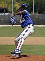 March 26, 2004:  Pitcher Pasqual Coco of the Montreal Expos (Washington Nationals) organization during Spring Training at Osceola County Stadium in Kissimmee, FL.  Photo copyright Mike Janes/Four Seam Images