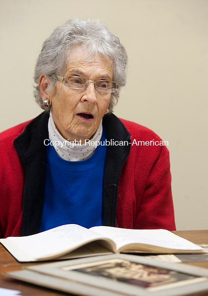 WATERBURY,  CT-111716JS07-  Board member Jean Schmidt talk about the history, and future, of the Bucks Hill Community Center at the center on Bucks Hill Road in Waterbury. <br /> Jim Shannon Republican American