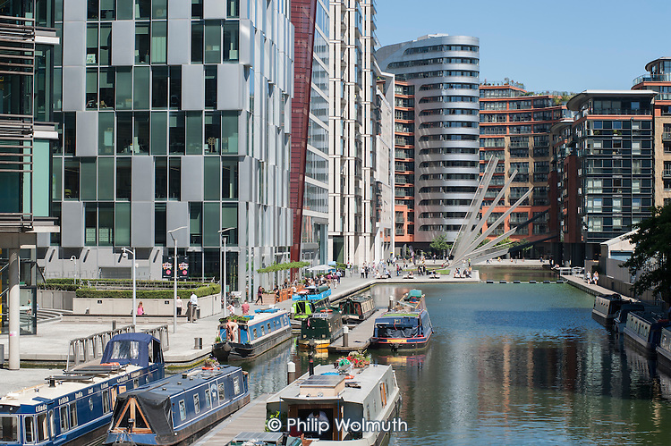 The public realm around the office, retail and residential development at Paddington Basin, West London, is privately owned and managed, and patrolled by private security guards.