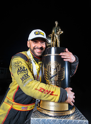 funny car, Camry, J.R. Todd, DHL, celebration, world champion, trophy, portrait