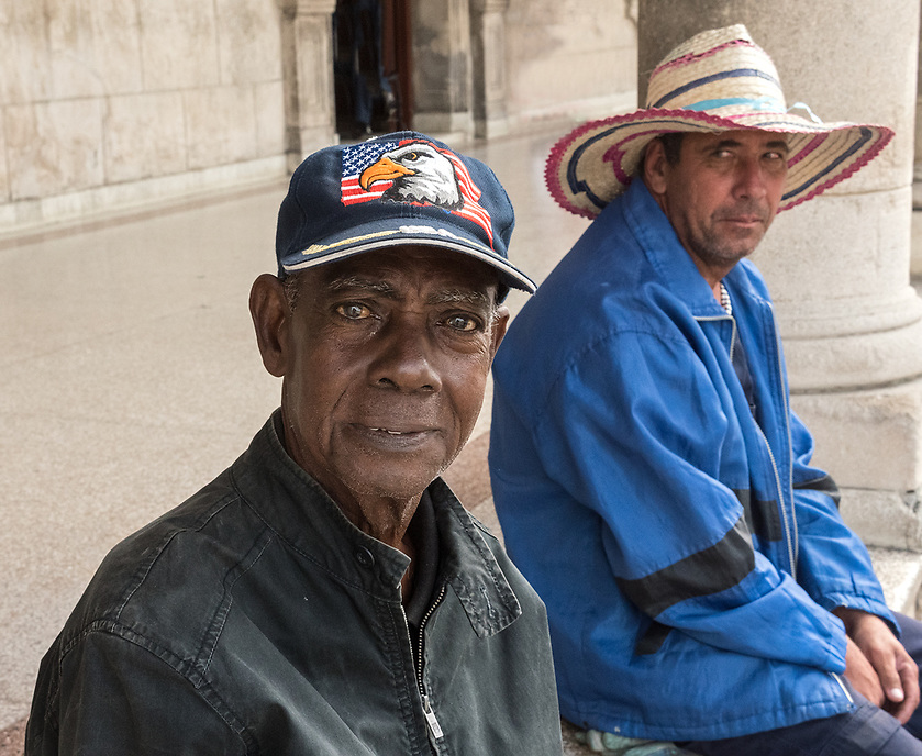Two men on the square, Guanabacoa, La Habana