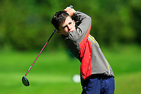 John Paul Flanagan (Co.Sligo) on the 1st tee during the Connacht U12, U14, U16, U18 Close Finals 2019 in Mountbellew Golf Club, Mountbellew, Co. Galway on Monday 12th August 2019.<br /> <br /> Picture:  Thos Caffrey / www.golffile.ie<br /> <br /> All photos usage must carry mandatory copyright credit (© Golffile | Thos Caffrey)