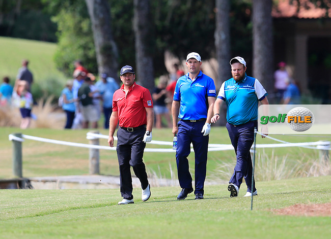 Graeme McDowell (NIR), Padraic Harrington (IRL), and Shane Lowry (IRL) during practice for the Players, TPC Sawgrass, Championship Way, Ponte Vedra Beach, FL 32082, USA. 11/05/2016.<br /> Picture: Golffile | Fran Caffrey<br /> <br /> <br /> All photo usage must carry mandatory copyright credit (&copy; Golffile | Fran Caffrey)