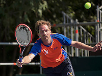 Moscow, Russia, 13 th July, 2016, Tennis,  Davis Cup Russia-Netherlands, Training Dutch team, Matwe Middelkoop (NED)(NED)<br /> Photo: Henk Koster/tennisimages.com