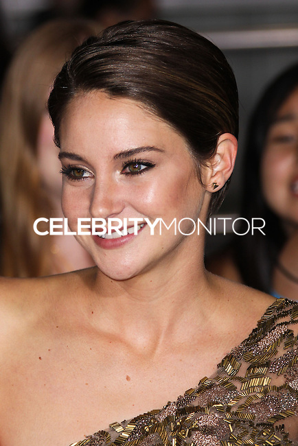 """WESTWOOD, LOS ANGELES, CA, USA - MARCH 18: Shailene Woodley at the World Premiere Of Summit Entertainment's """"Divergent"""" held at the Regency Bruin Theatre on March 18, 2014 in Westwood, Los Angeles, California, United States. (Photo by Xavier Collin/Celebrity Monitor)"""