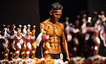 A bodybuilder competes in the Junior Men's Bodybuilding 70kg & below category during the 2016 Hong Kong Bodybuilding Championships on 12 June 2016 at Queen Elizabeth Stadium, Hong Kong, China.  Photo by Victor Fraile / Power Sport Images