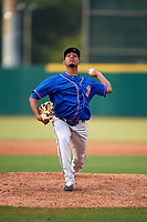 St. Lucie Mets relief pitcher Kevin Canelon (30) delivers a pitch during a game against the Florida Fire Frogs on July 23, 2017 at Osceola County Stadium in Kissimmee, Florida.  St. Lucie defeated Florida 3-2.  (Mike Janes/Four Seam Images)