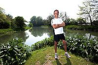 19 APR 2011 - BIGGLESWADE, GBR - Keen runner Bill Jordan, co founder of Jordan's Cereals, on one of his favourite run routes  (PHOTO (C) NIGEL FARROW)